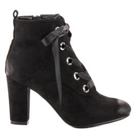 Vinceza Stivali di camoscio nero