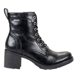 Nero Stivali con lacci VINCEZA neri