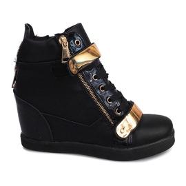 Sneakers con zeppa Foglio A89 Nero