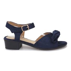 Marina Sandali tacco alto Noemia blu scuro