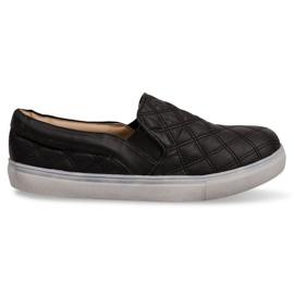 Sneaker senza lacci trapuntate Slip On 9033 Nero