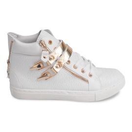 Sneakers alte con cursore 1525-2 bianco