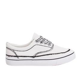 Sneakers da donna bianche BS103 bianche bianco