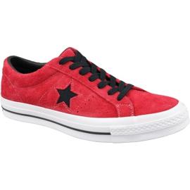 Scarpe Converse One Star M 163246C rosse rosso