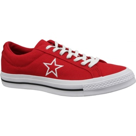 Rosso Scarpe Converse One Star Ox M 163378C rosse