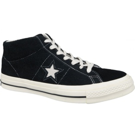 Scarpe Converse One Star Ox Mid Vintage Suede M 157701C nero