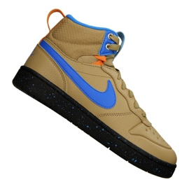 Scarpe Nike Court Borough Mid Boot 2 (GS) Jr BQ5440-701 giallo
