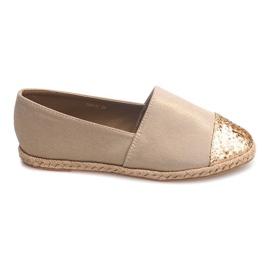 Sneakers in lino espadrillas 761-1 cachi