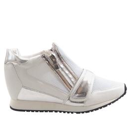 Sneakers semplici alla moda SK48 bianche bianco