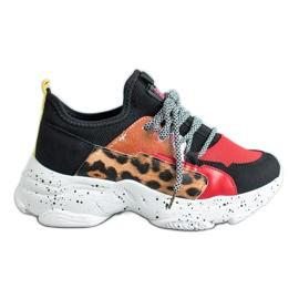 SHELOVET Scarpe sportive con stampa leopardo