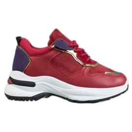 SHELOVET Scarpe da ginnastica casual rosso