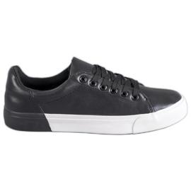 Bestelle nero Sneakers con pelle ecologica