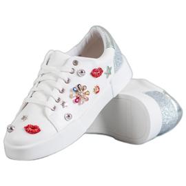 Bestelle bianco Scarpe sportive con toppe