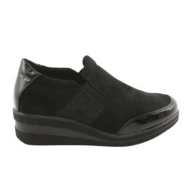 Scarpe nere sul cuneo Sergio Leone 225 nero