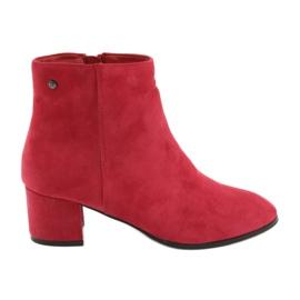 Rosso Stivali rossi in pelle scamosciata Filippo 316