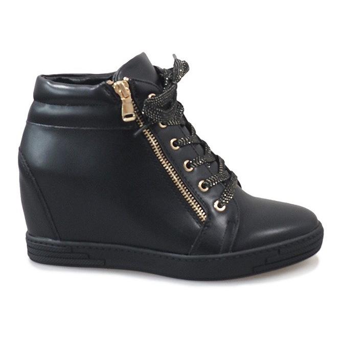 Sneaker nere con cursore TL-22 dorato nero