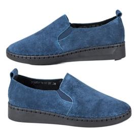 Filippo blu Sneakers in pelle Slip On