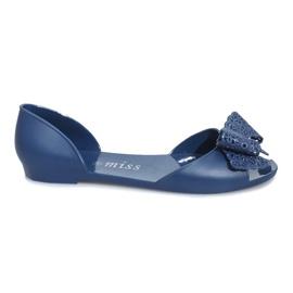 Marina Sandali melissa blu scuro con fiocco Delmar