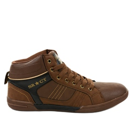 Sneakers stringate da uomo marroni 15M749