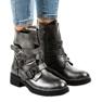 Grigio Stivali da donna grigi con fibbie HQ1588