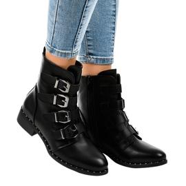 Stivali da donna neri con fibbie S120 nero