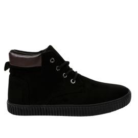 Sneaker da uomo isolata nera AN06 nero