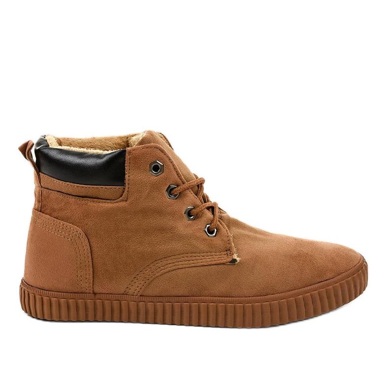 Sneakers da uomo isolate marrone AN06