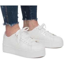 Bianco Sneakers bianche con plateau Livet De Lux