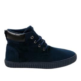 Sneaker da uomo isolata blu scuro AN06 marina