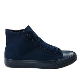Sneakers alte da uomo blu scuro XN50 marina