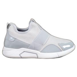 Ideal Shoes grigio Sneaker senza lacci