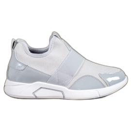 Ideal Shoes Sneaker senza lacci grigio