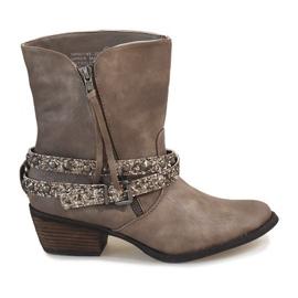 Grigio Stivali stivali da cowboy beige NRW1745-277