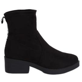 Nero Stivali tacco basso nero W868 Nero