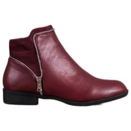 Anesia Paris rosso Stivali da donna bordeaux