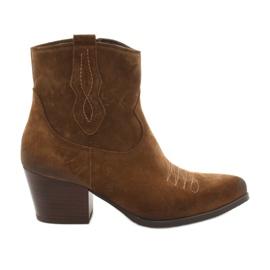 Stivali da cowboy in pelle scamosciata Gamis 3837 marrone