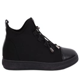 Sneakers nere in neoprene isolato XY-35 Nero