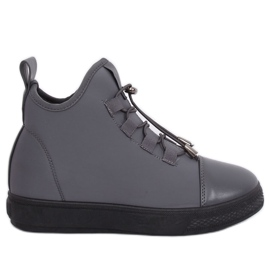 Sneakers in neoprene grigio isolato XY-35 Grigio