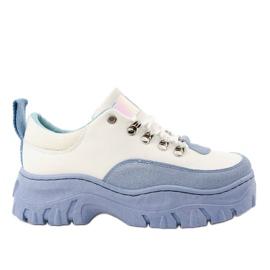 Scarpe sportive da donna bianche e blu PF5329