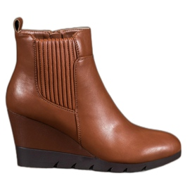 SHELOVET marrone Boots On Wedge