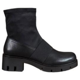 Filippo nero Stivali neri sulla piattaforma