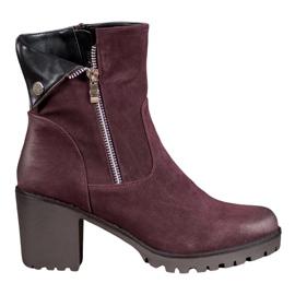 Stivali Borgogna VINCEZA rosso