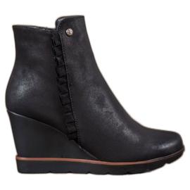 Filippo nero Boots On Wedge