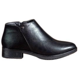 Daszyński Boots On Flat Heel nero
