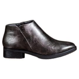 Daszyński Boots On Flat Heel grigio