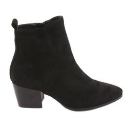 Stivali di camoscio nero Filippo 922