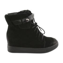Daszyński nero Sneakers nere con cerniera 143