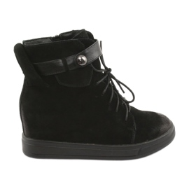 Daszyński Sneakers nere con cerniera 143 nero