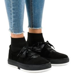 Nero Sneakers nere con nastro alto CH-95