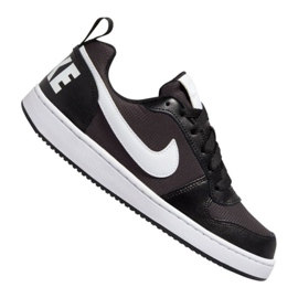 Scarpe Nike Court Borough Low Pe (GS) Jr BQ7566-002 nero nero